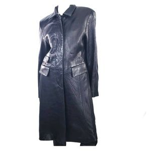 Vintage Emmanuel Ungaro Soft Leather Trench Coat